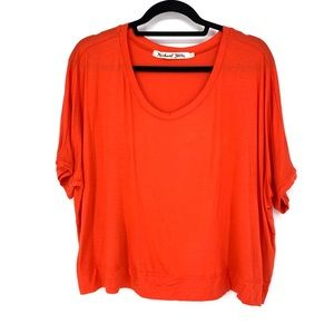 Michael Stars Sz L Cropped Dolman Sleeve Top